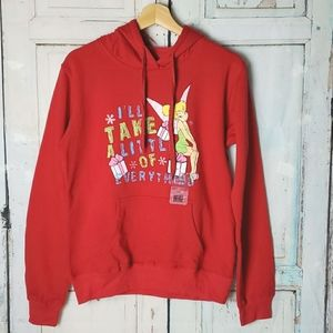Girls Tinkerbell Christmas hoodie size L 11-13